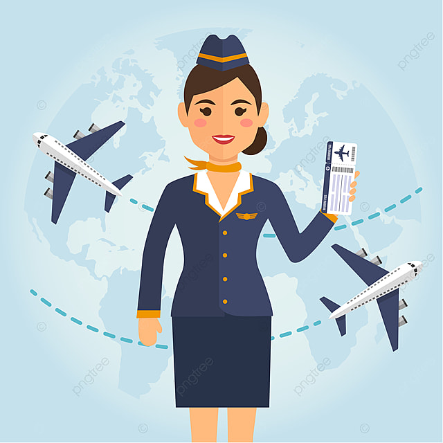 pngtree-stewardess-woman-in-uniform-with-flight-tickets-on-blue-airplane-background-png-image_2150655